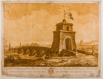 Ponte Milvio. Torre di Guardia, veduta
