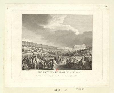 Les  Traveaux du Champ de Mars en 1790 [estampe]