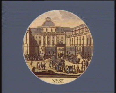 N.o 57 13 9.bre. Le Maire de Paris allant au Palais... : [estampe]