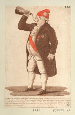 Louis XVI avait mis le bonnet rouge il avoit crié vive la <em>nation</em>, il avoit bu a la santé des sans-culotte,... Eh bien ! ce même Louis XVI a bravement attendu que ses concitoyens fussent rentrés dans leurs foyers pour leur faire une guerre occulte et exercer sa vengeance : [estampe]