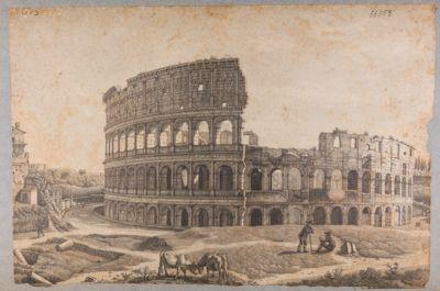 Colosseo. Esterno prima della costruzione dello sperone