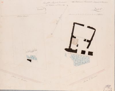 Palatino, pianta di alcuni scavi fatti nel 1847