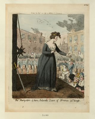 <em>The</em>  Martyrdom of Marie Antoinette Queen of France Oct.r 16 <em>1793</em> [estampe]