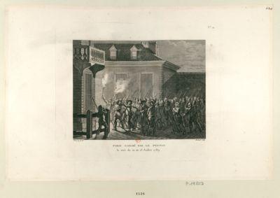 Paris gardé par le peuple la nuit du 12 au 13 juillet 1789 : [estampe]