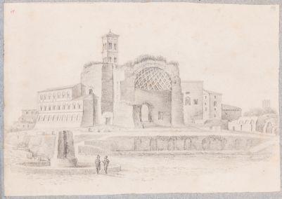 Tempio di Venere e Roma, visto dal Colosseo