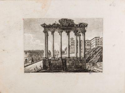 Tempio di Saturno, veduta degli avanzi