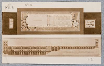 Palazzo Vaticano. Cortile di Belvedere, ricostruzione