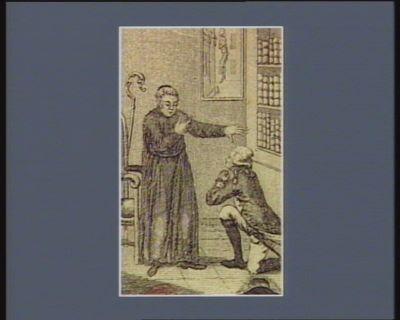 [La  Fayette se confessant à l'abbé de Saint Martin] [estampe]