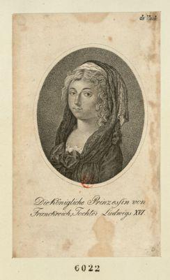 Die  Königliche Prinzessin von Franckreich Tochter Ludwigs XVI [estampe]