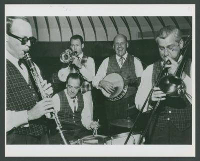 Bill Napier, Fred Higuera, Bob Scobey, Clancy Hayes, Jack Buck, Flamingo Hotel Las Vegas