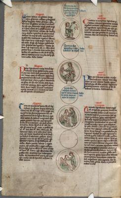 Cambridge, Corpus Christi College, MS 083: Petrus Riga, Aurora. Peter of Poitiers, Genealogia historiarum