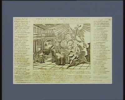 Vivent les coeurs bienfaisans extr. du Journal de Paris 20 decembre 1788. Mgr le Duc d'Orléans et Mme la duchesse d'Orléans profondément affligés de tout ce que des pauvres ont a souffrir dans une saison aussi rigoureuse... : [estampe]
