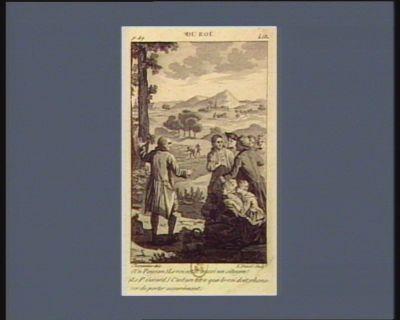 Du Roi (un paysan.) Le Roi est-il aussi un citoyen ? (le P. Gerard.) C'est un titre que le Roi doit s'honorer de porter assurément : [estampe]