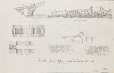 Ponte Salario, particolari del Ponte