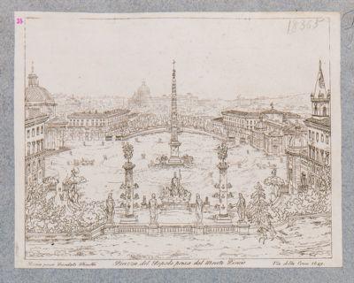 Piazza del Popolo con sfondo di S. Pietro