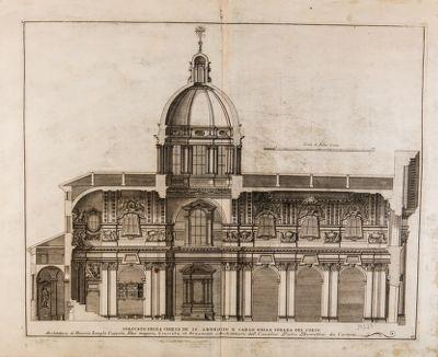 Chiesa di S. Carlo al Corso, spaccato