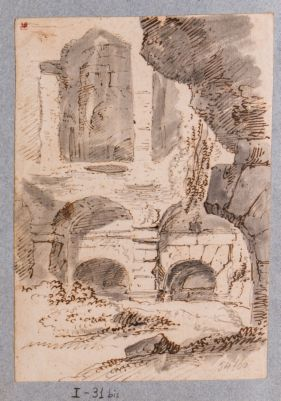 Colosseo, interno. Particolare di arcate