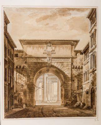 Porta Angelica in Roma, esterno