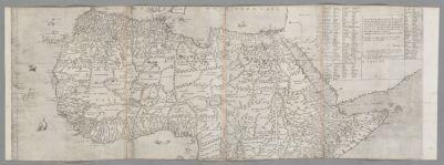 Il disegno della geografia moderna de tutta la parte dell'Africa