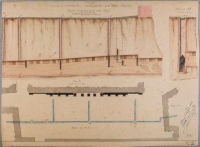 Cloaca costruita nell'anno 142 D. C