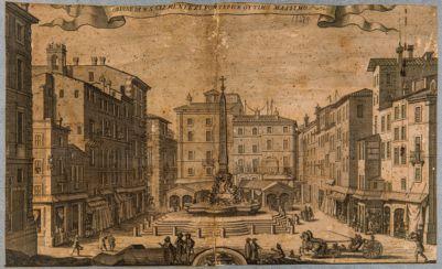 Piazza del Pantheon, veduta d'insieme