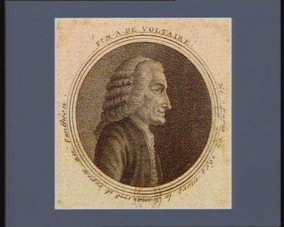 Fr. Ma. de Voltaire né à Paris en 1694 mort le 30 mai 1778 il repose au Panthéon : [estampe]