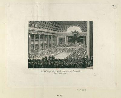 Eroëffnung der Reichs-stäende zu Versailles den 5. ten May 1789 : [estampe]