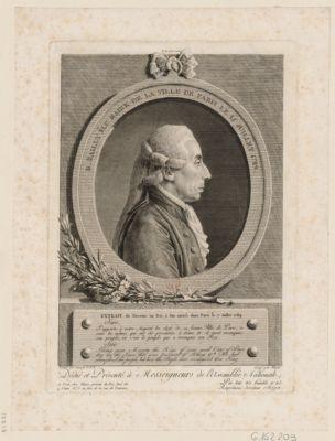 Bailly, élu maire de la Ville de Paris, le 15 juillet 1789 executé au Champs de la Fédération, le 21 brumaire, l'an 2.e de la République Française : [estampe]