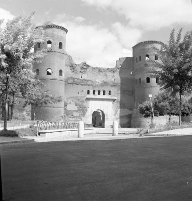 Porta Asinaria, after it was reopened in 1954