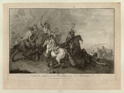 Combat de cavalerie de la République avec les Autrichiens [estampe]