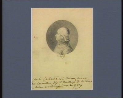 Charles La Borde né à Condom curé de Cornaillan député du clergé du bailliage de Condom aux Etats généraux de 1789 : [dessin]