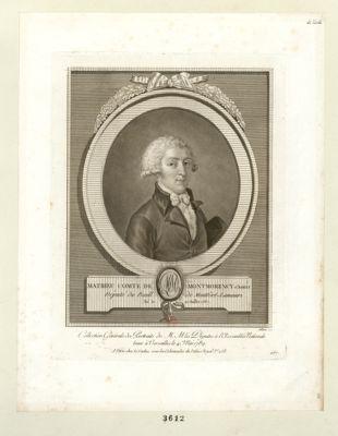 Matiheu comte de Montmorency g.d bailly Député du Baill. de Montfort-Lamauri, Né le 10 Juillet 1767 : [estampe]
