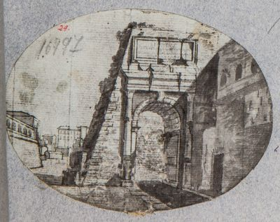 Arco di Tito, prima dell'isolamento dalla via Sacra