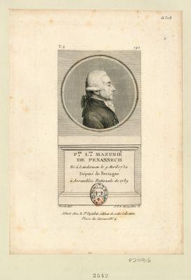 P.re L.lis Mazurié de Penannech né à Landerneau le 9 avril 1732 député de Bretagne à Assemblée nationale de 1789 : [estampe]