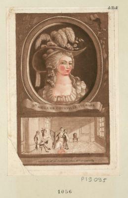 Mme Mella de Courville Sulbark Visite de Mr de Tienville chez Mme de Courville : [estampe]