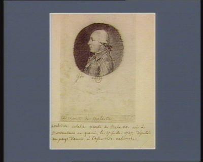 Ambroise Eulalie vicomte de Malartic né à <em>Montauban</em> en Querci, le 27 juillet 1737, député du pays d'Aunis à l'Assemblée nationale : [dessin]