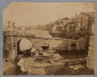 Ponte Elio, spalla sinistra del ponte