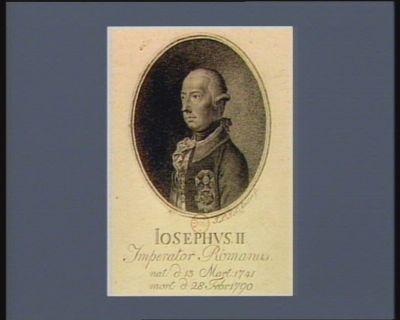 Iosephus II Imperator Romanus nat. d. 13 Mart. 1741 mort. d. 28 [i.e. 20] Febr. 1790 : [estampe]
