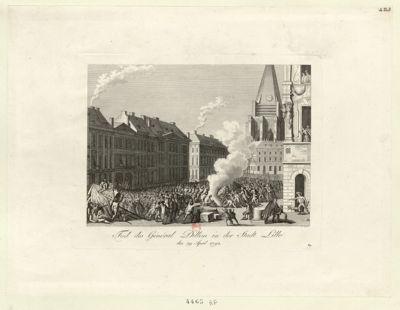Tod des Général Dillon in der Stadt Lille den 29 April 1792 : [estampe]