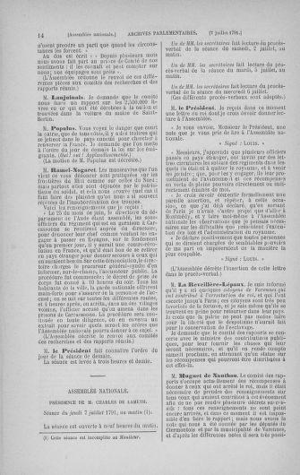 Tome 28 : Du 6 au 28 juillet 1791 - page 14