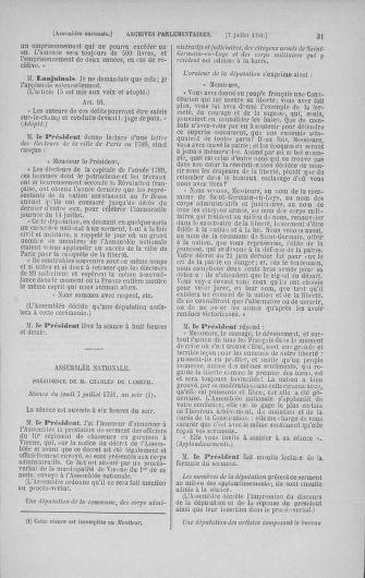 Tome 28 : Du 6 au 28 juillet 1791 - page 31