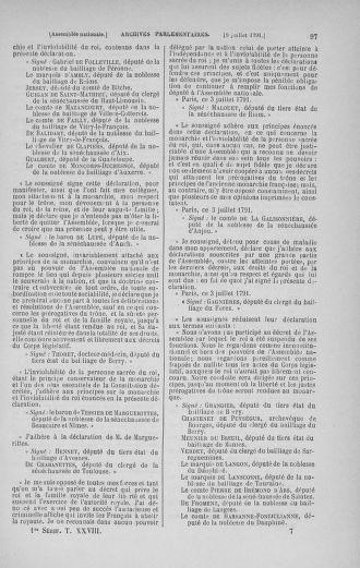 Tome 28 : Du 6 au 28 juillet 1791 - page 97