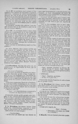 Tome 28 : Du 6 au 28 juillet 1791 - page 99