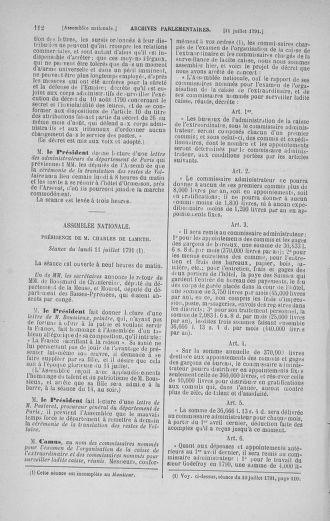 Tome 28 : Du 6 au 28 juillet 1791 - page 112