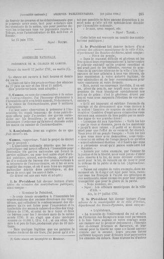 Tome 28 : Du 6 au 28 juillet 1791 - page 205