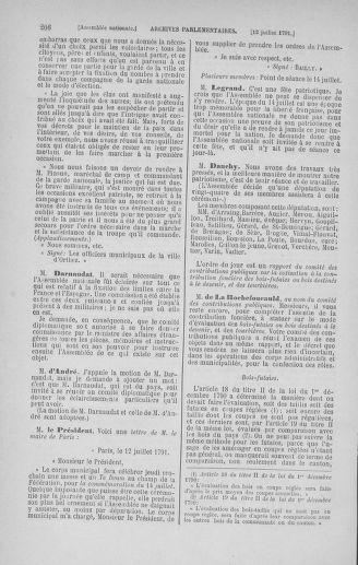 Tome 28 : Du 6 au 28 juillet 1791 - page 206
