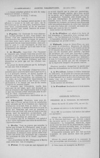 Tome 28 : Du 6 au 28 juillet 1791 - page 213