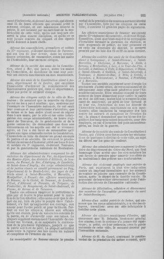 Tome 28 : Du 6 au 28 juillet 1791 - page 215