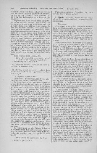 Tome 28 : Du 6 au 28 juillet 1791 - page 224