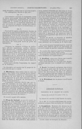 Tome 28 : Du 6 au 28 juillet 1791 - page 311